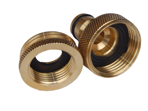 Tap Adaptor: ¾in & 1in to snap-on brass - promo
