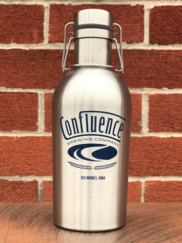 32oz Stainless Steel Insulated Growler (Silver)