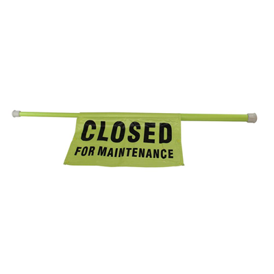 Closed for Maintenance Safety Pole
