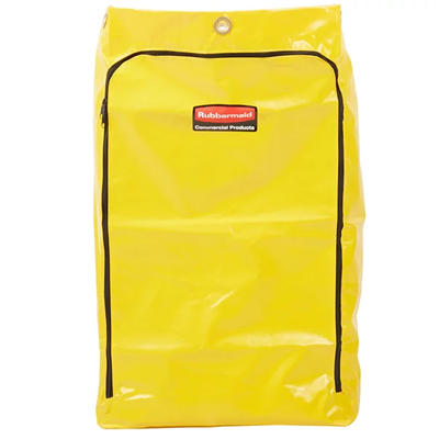 Yellow Vinyl Janitor Cart Bag by Rubbermaid
