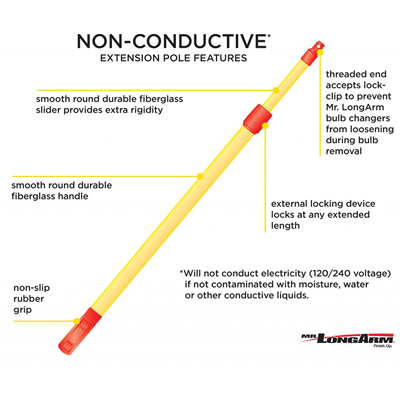 Non-Conductive Extension Pole