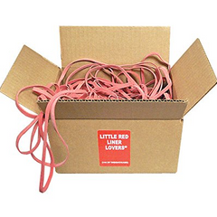 Little Red Liner Lovers Rubber Band for Can Liner