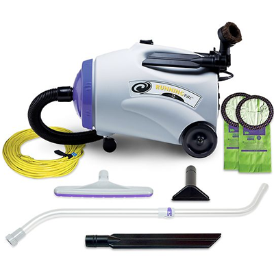 ProTeam RunningVac 10 qt. Canister Vacuum w/ Xover Multi-Surface Telescoping Wand Tool Kit