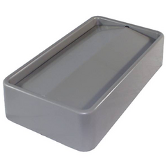 Thin Bin Gray Swing Lid