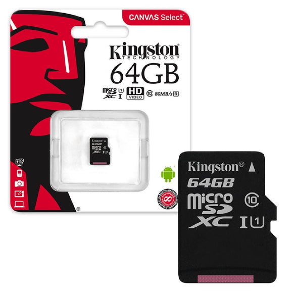 Memoria Micro SD MICROSD 64Gb Kingston Canvas Cl10