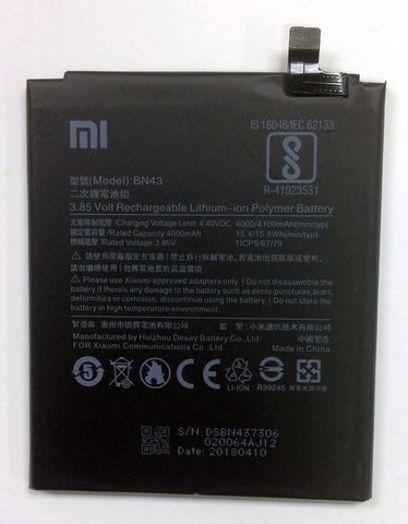Bateria Pila para Xiaomi Redmi Note 4X Redmi Note 4 Global BN43