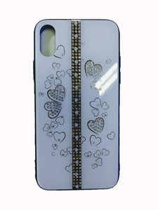 Funda Cristal Decorado Corazón Para Iphone X/XS