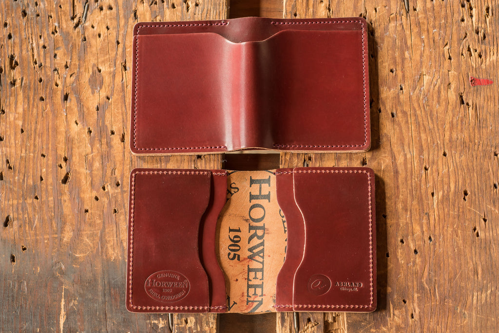 Ashland Leather Wallet Tony the Ant in garnet horween shell cordovan