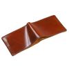 amaretto shell cordovan leather bifold wallet