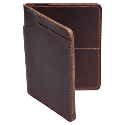 Brown leather wallet made by Ashland Leather from Horween brown chromexcel