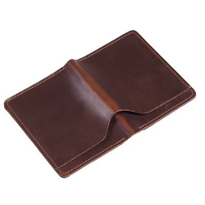Brown leather wallet in horween Chromexcel