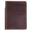 Fat Herbie leather wallet folded in half in brown Horween Chromexcel leather