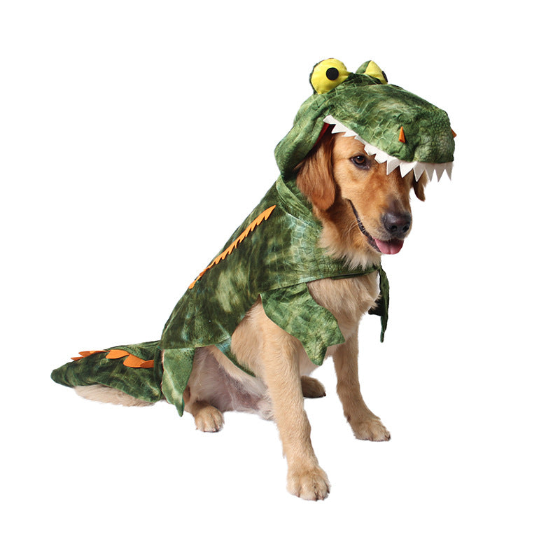 ... Funny Halloween Dinosaur Crocodile Large Dog Costume ...  sc 1 st  DoggieStyleAttire & Funny Halloween Dinosaur Crocodile Large Dog Costume u2013 DoggieStyleAttire