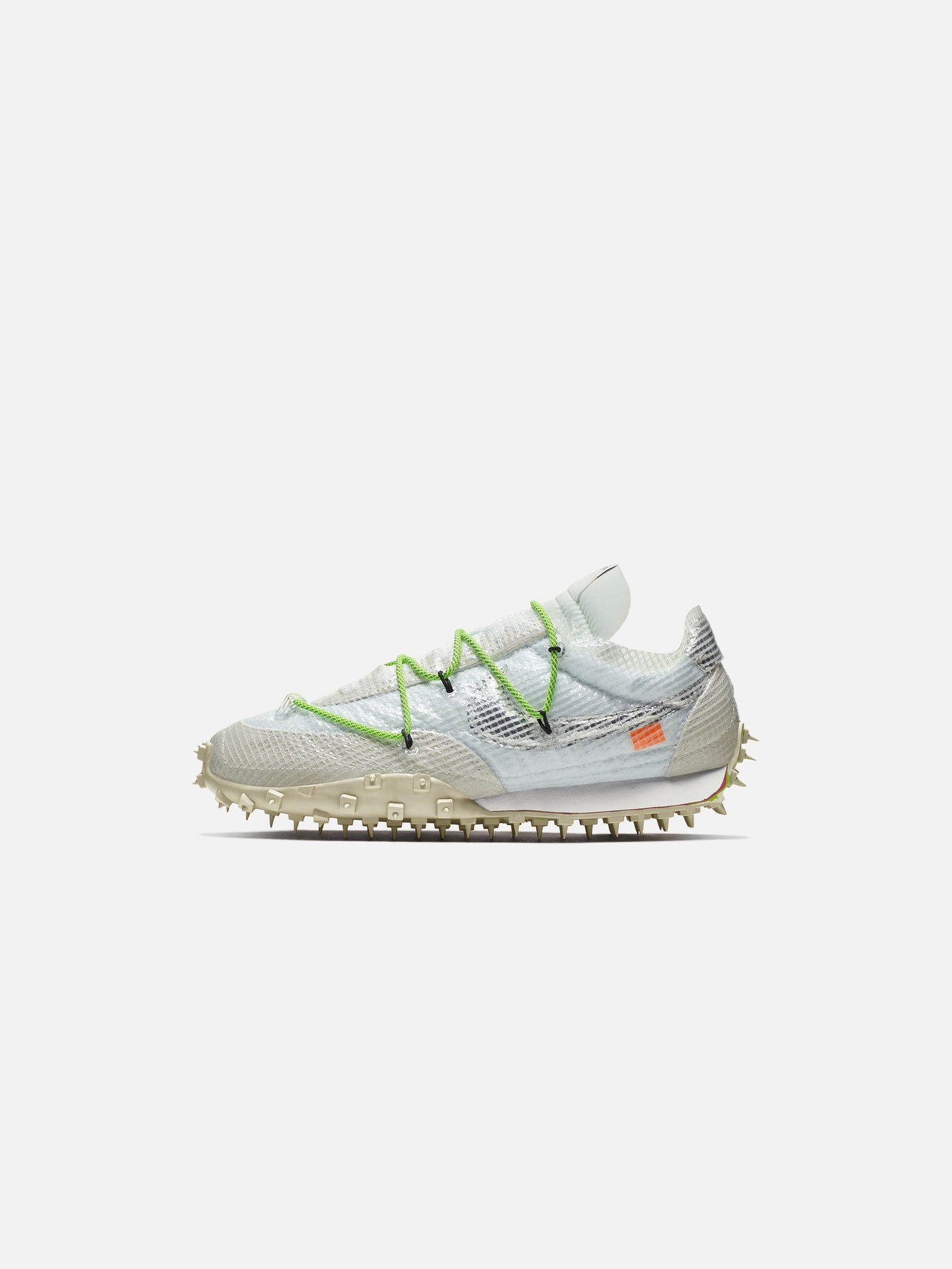 x OFF-WHITE™ WAFFLE RACER: WHITE/ELECTRIC GREEN