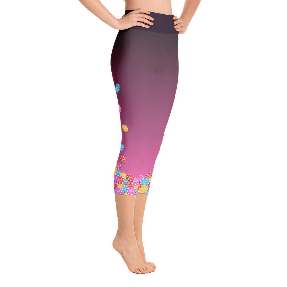 The IvaMichele Vegas Yoga Capris - Hot Pink - IvaMichele