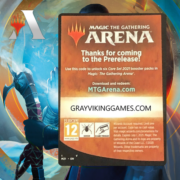Core Set 2021 PreRelease Pack Code (6 Boosters)