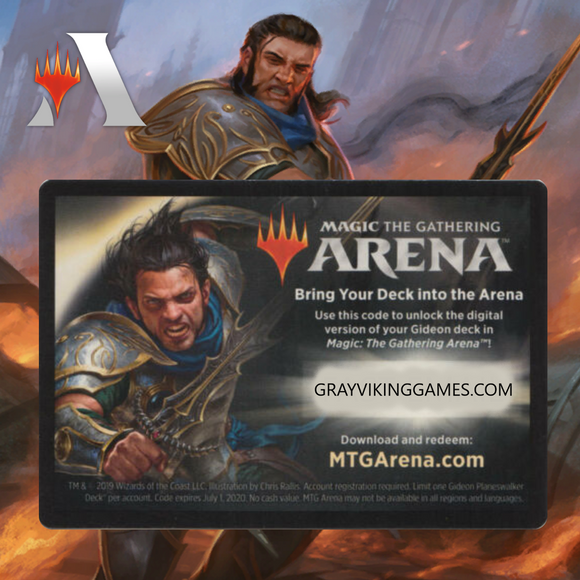 War of the Spark Gideon Planeswalker Deck Code