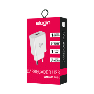 CARREGADOR ELOGIN TURBO TIPO C - TT06