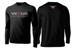 VEXUS® Black Performance LS Logo Tee