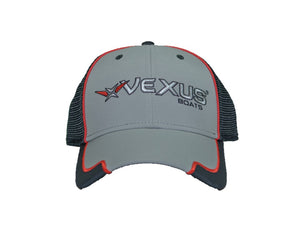 VEXUS® Grey / Black Mesh Wrap Bill Logo Hat