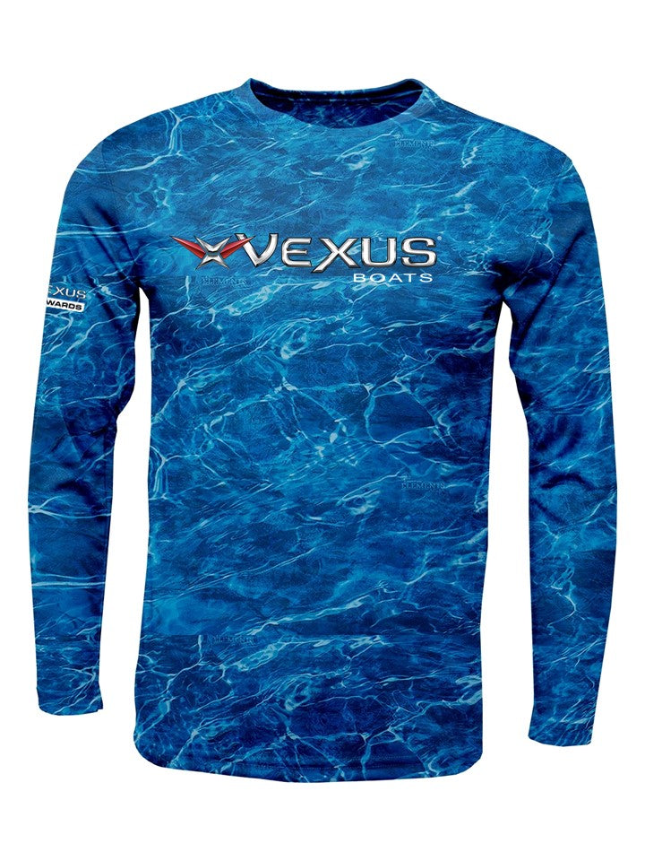 VEXUS® Marlin Camo Performance L/S Tee