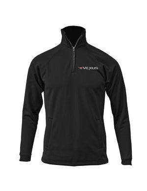 Vexus® Black 1/4 Zip Performance Pullover