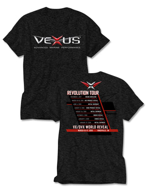 VEXUS® Black Heather Technical Tour Tee