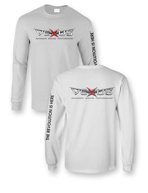 VEXUS® White Corporate Logo L/S Tee
