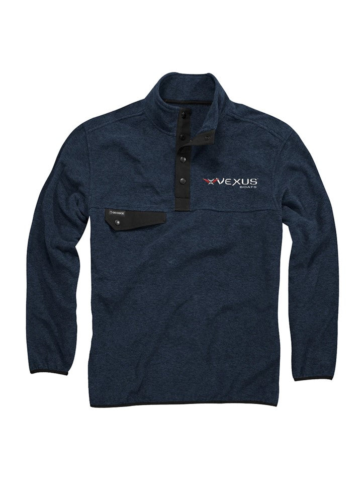 VEXUS® / Dri-Duck Navy 4 Button Fleece Pullover