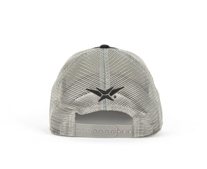 VEXUS® Black/Grey Mesh Iridescent Logo Hat