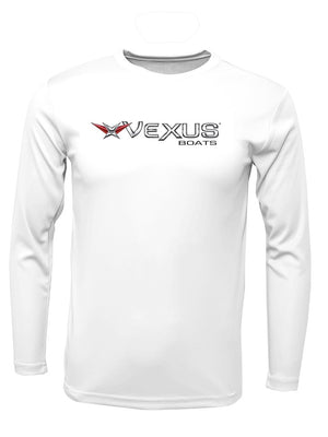 VEXUS® White Performance LS Logo Tee