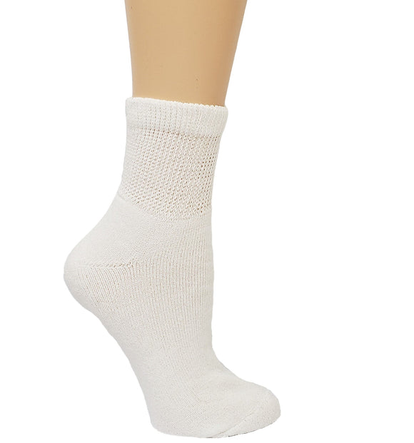 Dr. Allay Women's Cushioned Diabetic Quarter Socks