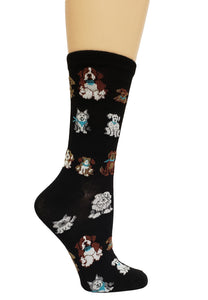 Women's Fun Novelty Socks - Dogs In a Line