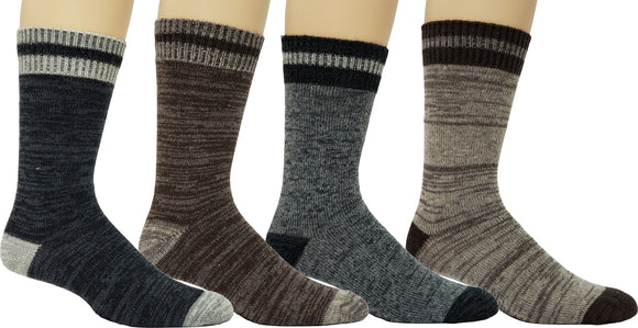 Men's Marled Wool Blend Casual Socks