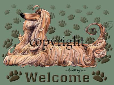 Afghan Hound - Welcome - Mat