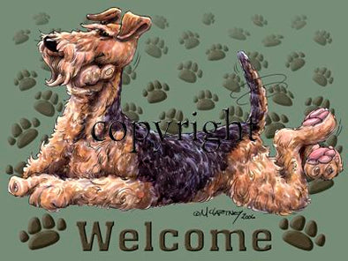 Airedale Terrier - Welcome - Mat