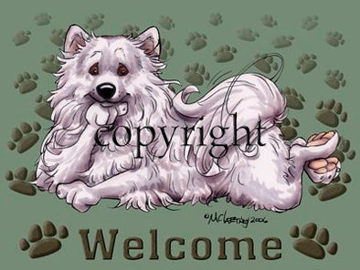 American Eskimo Dog - Welcome - Mat