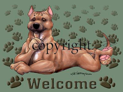 American Staffordshire Terrier - Welcome - Mat