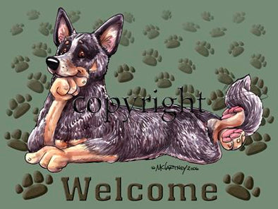 Australian Cattle Dog - Welcome - Mat