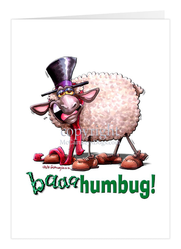 Baaa Humbug - Christmas Gatherings - Christmas Card