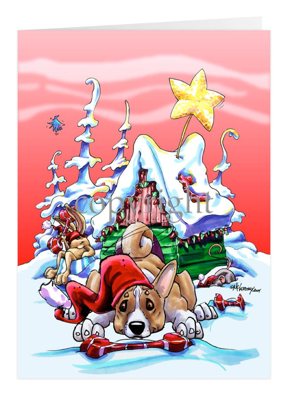 Basenji - Doghouse - Christmas Card