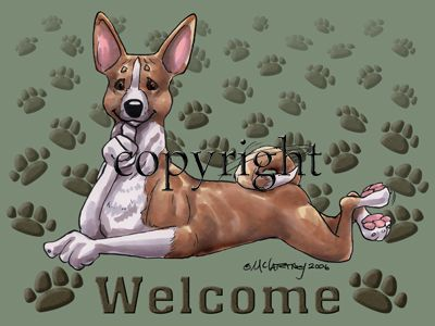 Basenji - Welcome - Mat