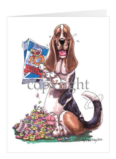 Basset Hound - Cereal Box - Caricature - Card