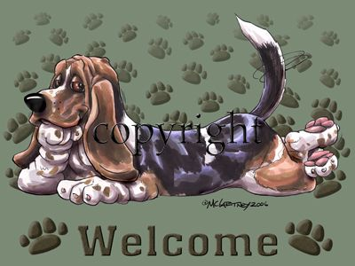 Basset Hound - Welcome - Mat