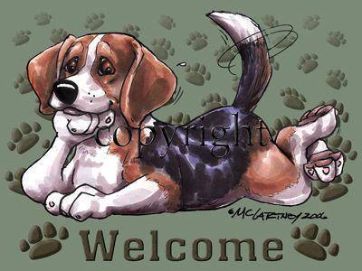 Beagle - Welcome - Mat