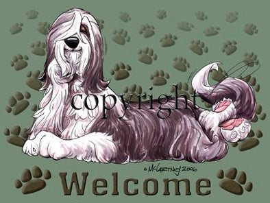 Bearded Collie - Welcome - Mat
