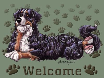 Bernese Mountain Dog - Welcome - Mat