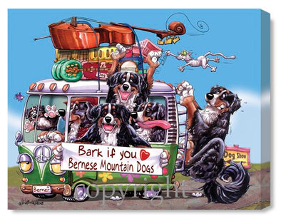 Bernese Mountain Dog - Bark If You Love - Canvas