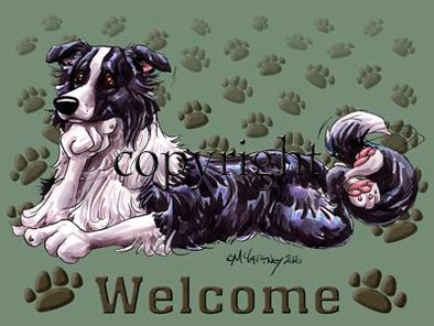 Border Collie - Welcome - Mat