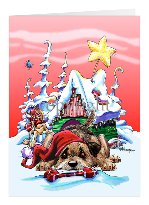 Border Terrier - Doghouse - Christmas Card